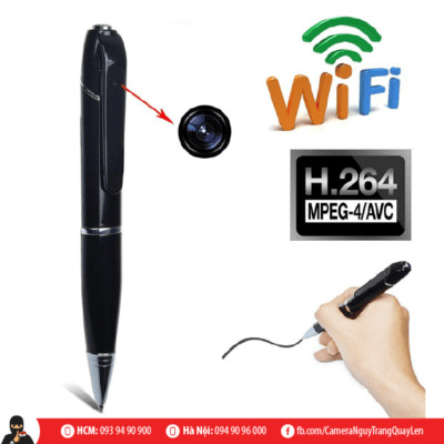 Bút ip wifi HD camera nguỵ trang