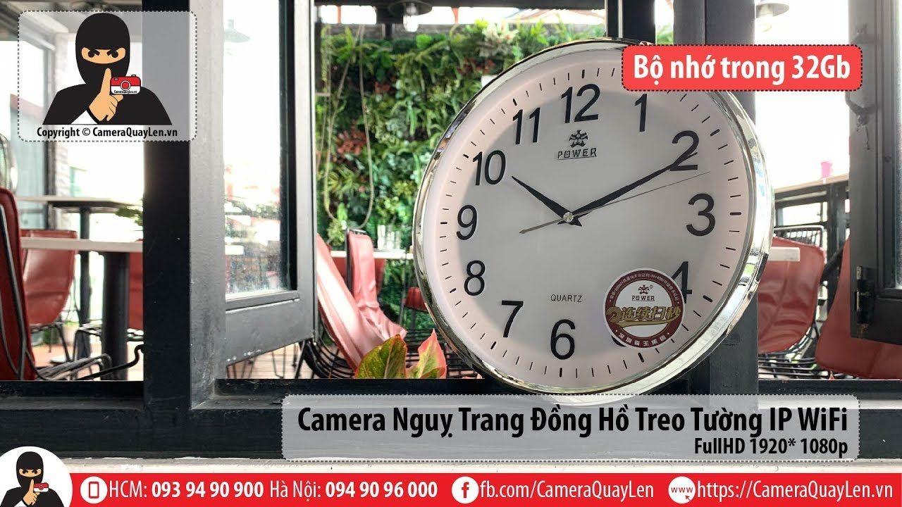 đồng hồ treo tường ngụy trang camera