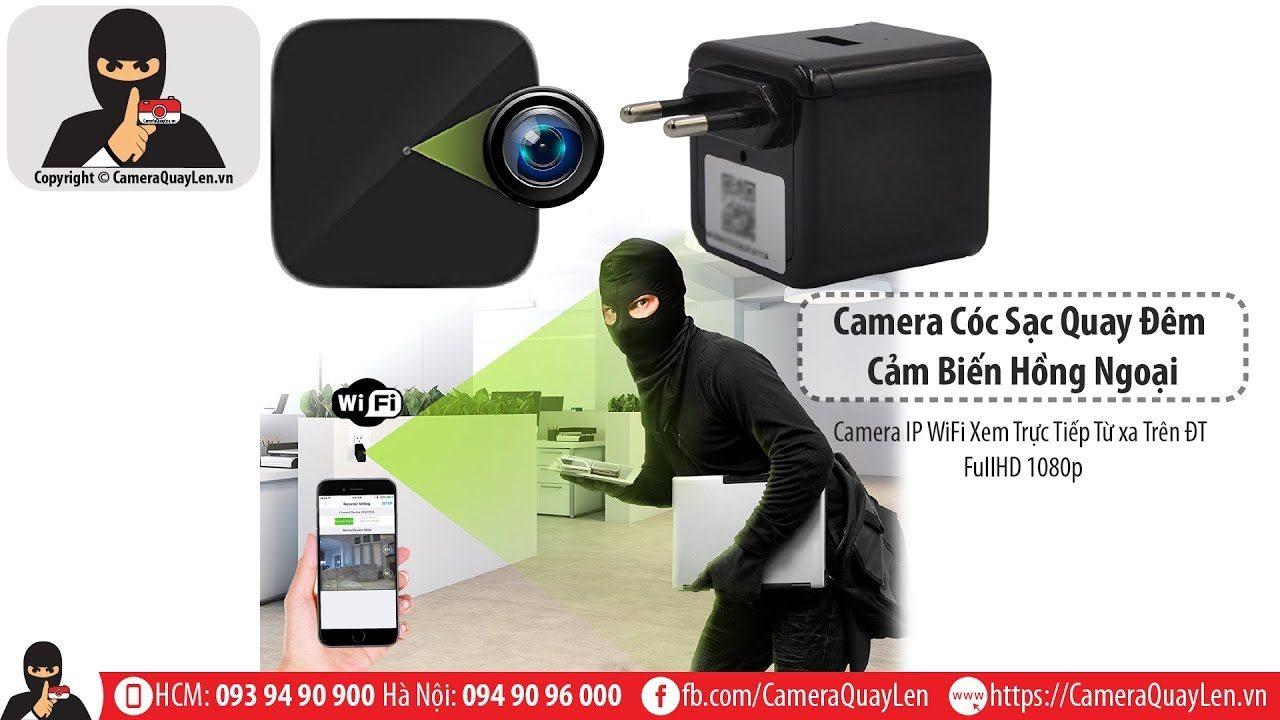 camera ngụy trang cốc sạc điện thoại