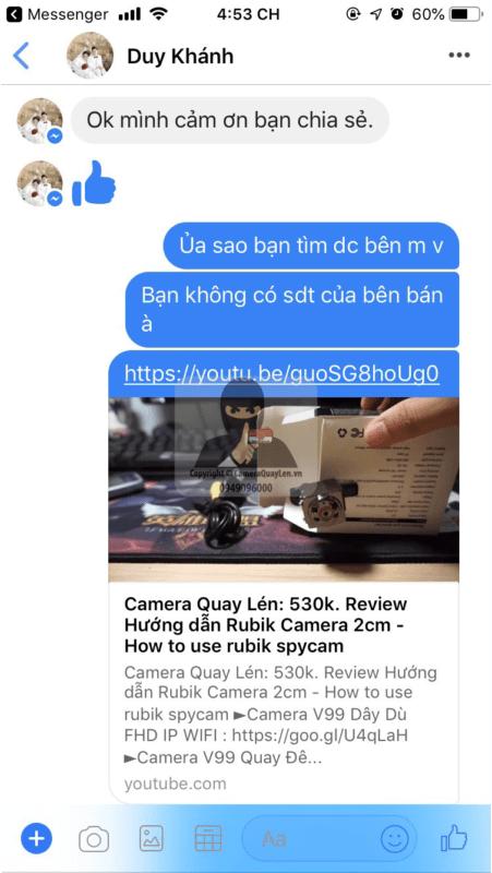 Những phản hồi khách hàng đã mua hàng Camera SQ8 xem trực tiếp qua điện thoại