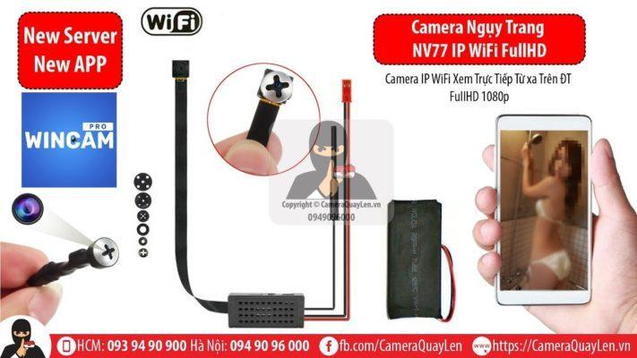 Camera NV77 IP WiFi - Theo Dõi từ xa trên điện thoại bằng 3G