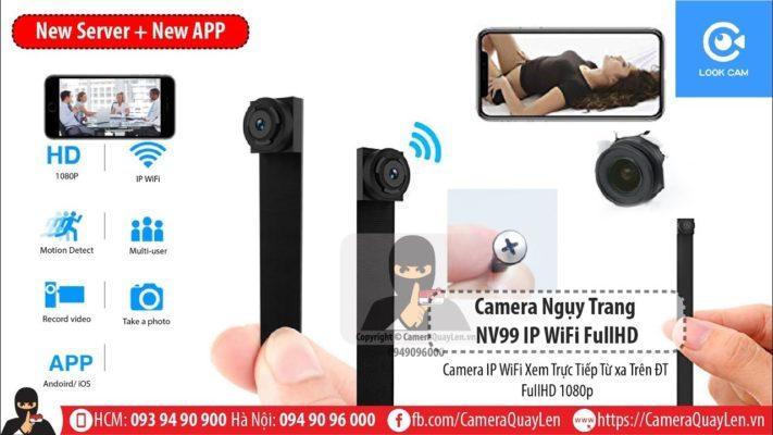 Camera NV99 IP WiFi - Theo Dõi Từ Xa Trên Điện Thoại Bằng 3G